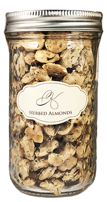 Tall Herbed Almonds (12oz jar)
