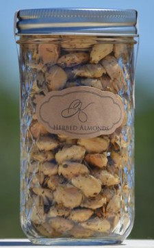 Herbed Almonds 12oz Jar