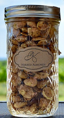 3 Tall Herbed Almond Jar Bundle Set