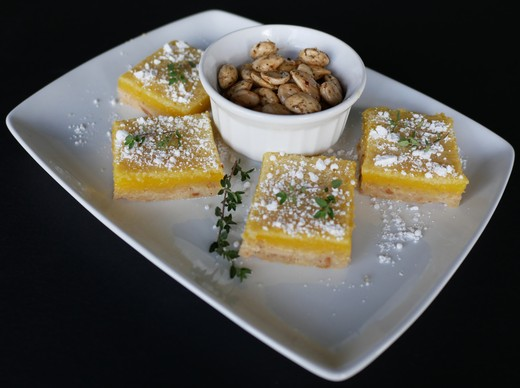 Herbed Almond Lemon Bars